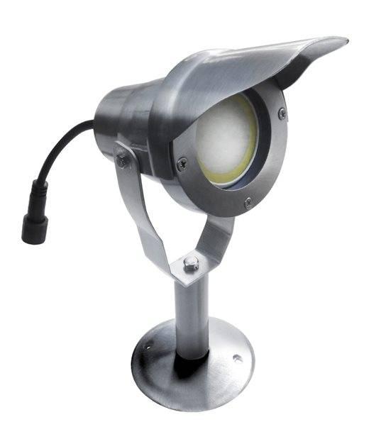 Spot projecteur à Piquer Alu Poli OPTIMUM GU10 MR16 ou MR20 IP67 Orientable extérieur EASY CONNECT ampoule fournie - PROJECTEUR JARDIN - siageo-led.com