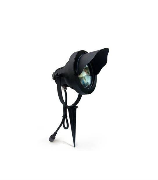 Spot projecteur à Piquer Alu Noir OPTIMUM GU10 MR30 IP67 Orientable extérieur EASY CONNECT ampoule fournie - 65300 - PROJECTEUR JARDIN - siageo-led.com