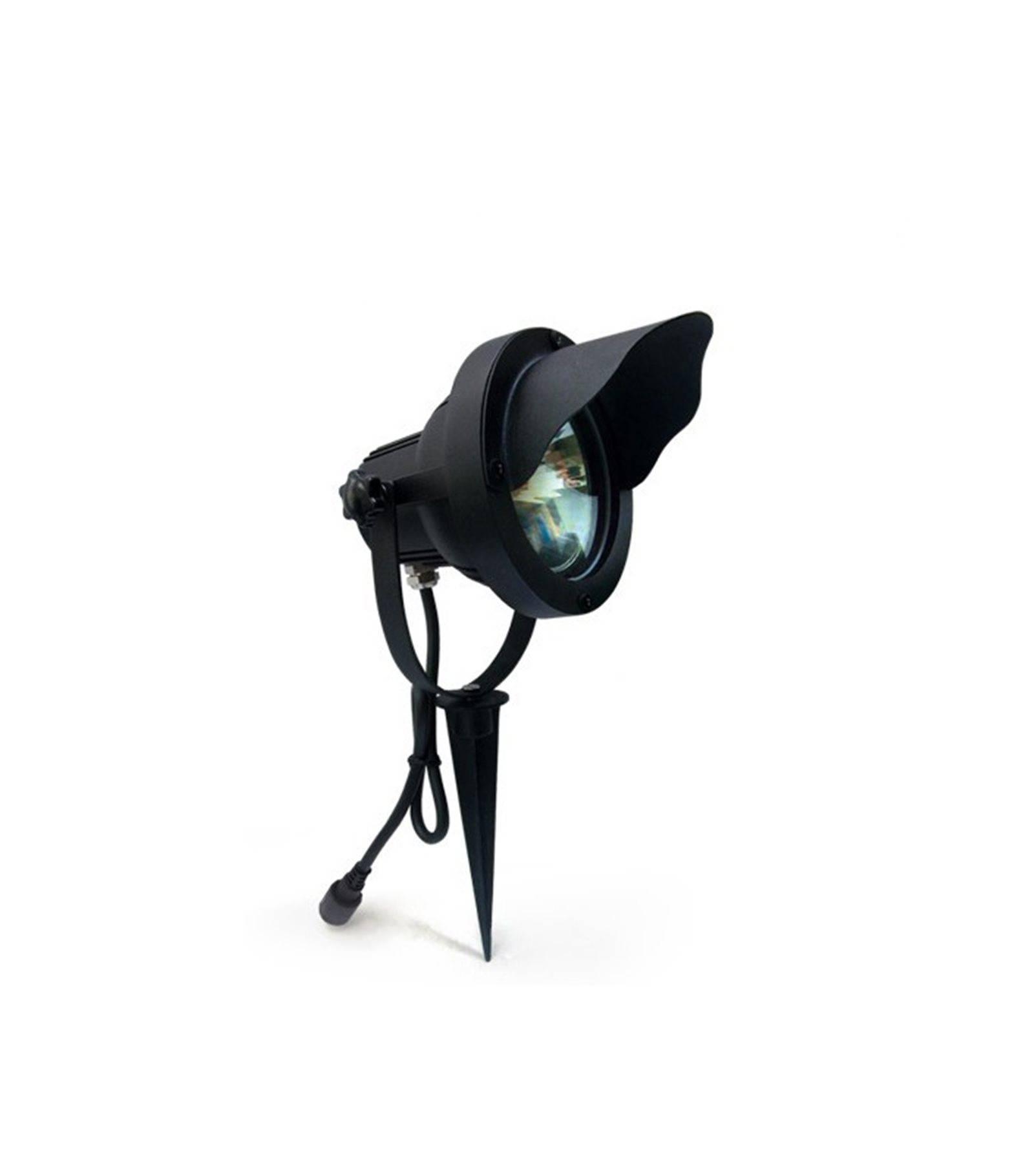 spot projecteur piquer alu noir optimum gu10 mr30 ip67 orientable ext rieur easy connect. Black Bedroom Furniture Sets. Home Design Ideas