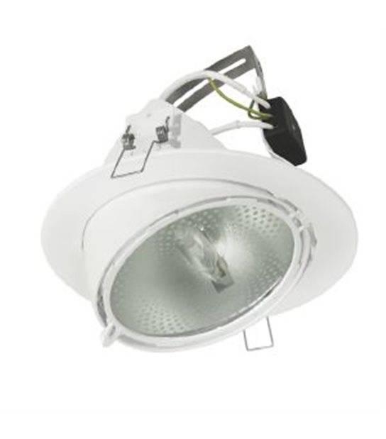 Downlight CALVI/BRAVA Blanc Rond RX7S IP20 Orientable ampoule fournie HIPOW - 4901 - LED DOWNLIGHT - siageo-led.com