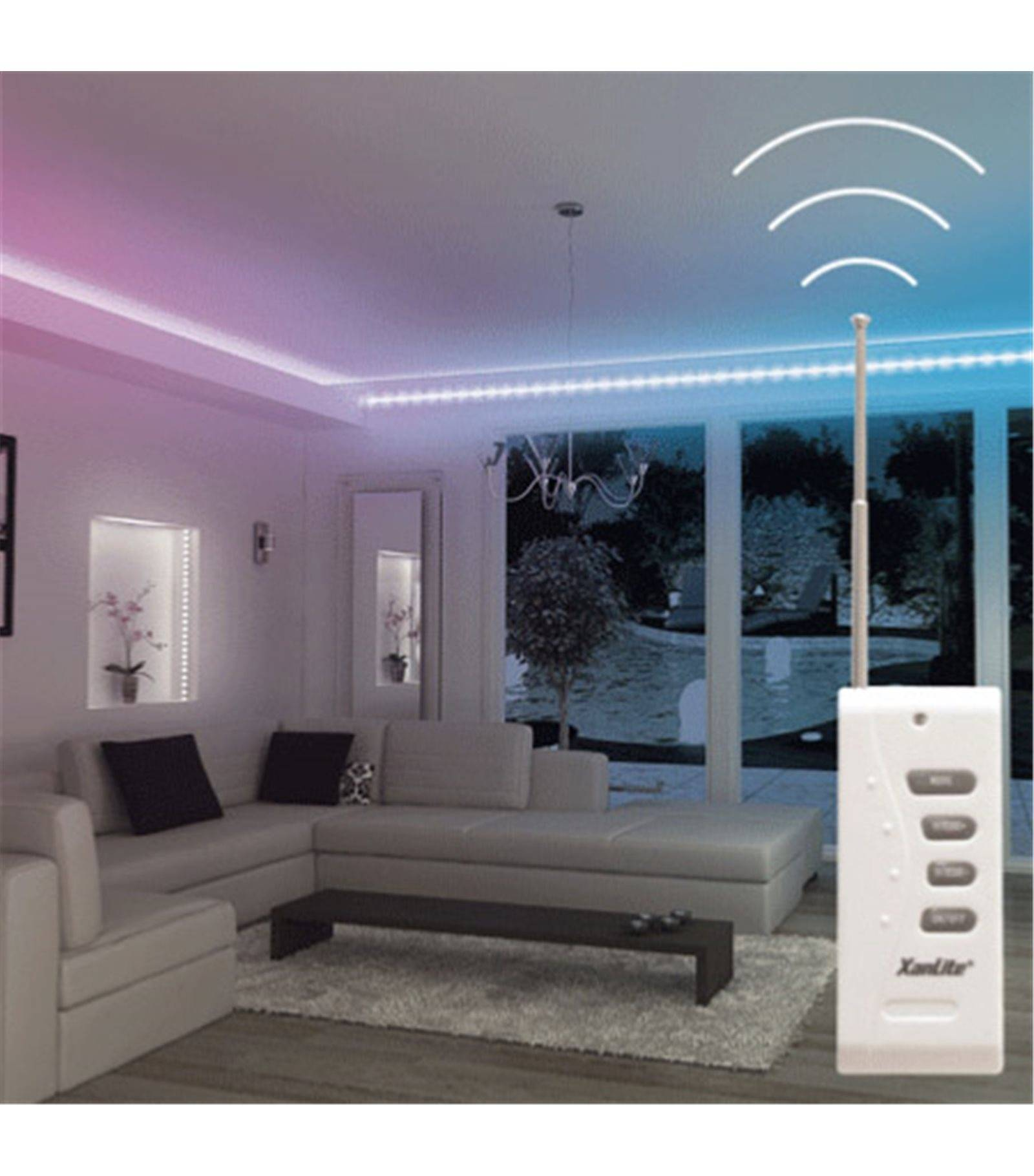 kit ruban led rgb tanche ruban ip65 autres parties ip20 bande led de 3m 18 5w avec. Black Bedroom Furniture Sets. Home Design Ideas