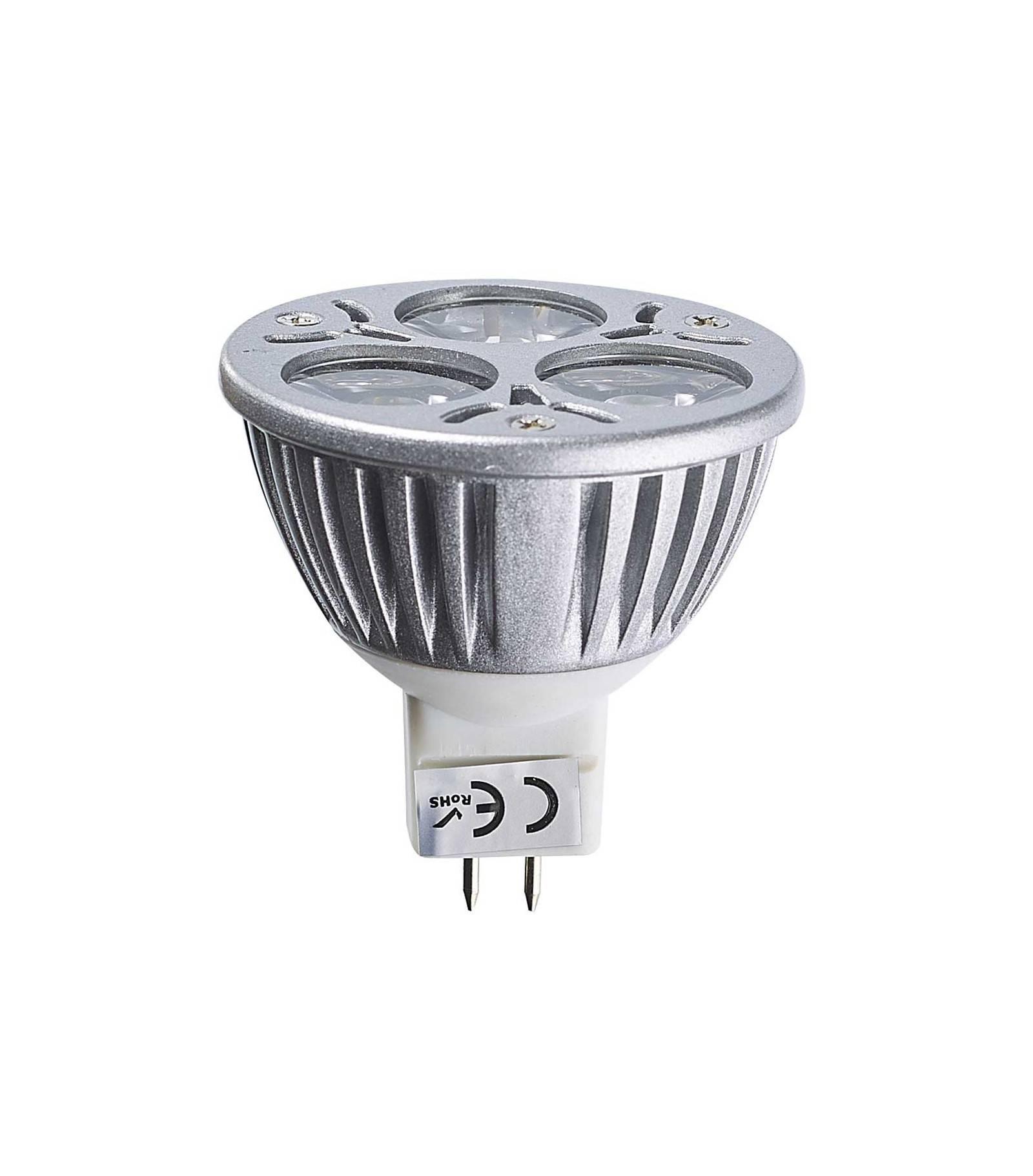 ampoule led gu5 3 mr16 triled 3x2w 6w 320 370lm blanc chaud 60 12v edison gu5 3 siageo. Black Bedroom Furniture Sets. Home Design Ideas
