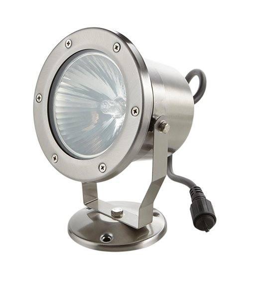 Spot projecteur Inox Focus 95mm GU10 MR16 ou MR20 IP67 Orientable extérieur EASY CONNECT ampoule fournie - PROJECTEUR JARDIN - siageo-led.com