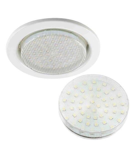 GX53 Spot encastrable rond blanc livré avec ampoule GX53 220V - ENCASTRABLE - siageo-led.com