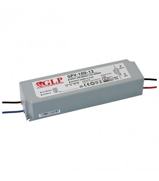 Transformateur spécial Led 12V de 100W GPV-100-12 GLP - GLP-GPV-100-12 - TRANSFORMATEUR SPECIAL LED - siageo-led.com