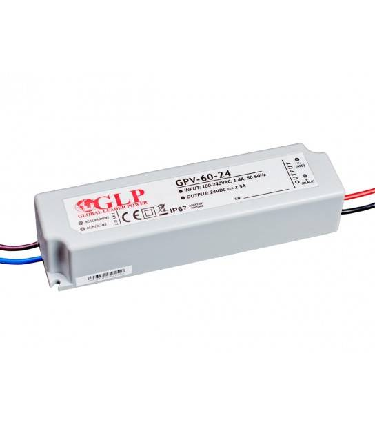 Transformateur spécial Led 24V de 60W GPV-60-24 GLP - GLP-GPV-60-24 - CYBER WEEK - siageo-led.com