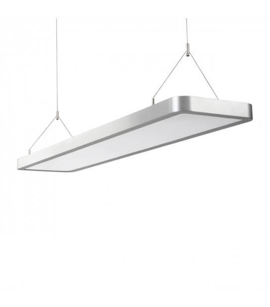 Luminaire plafonnier gris VECOM 65W LED integrés IP20 Blanc Neutre - 18822 - CYBER WEEK - siageo-led.com