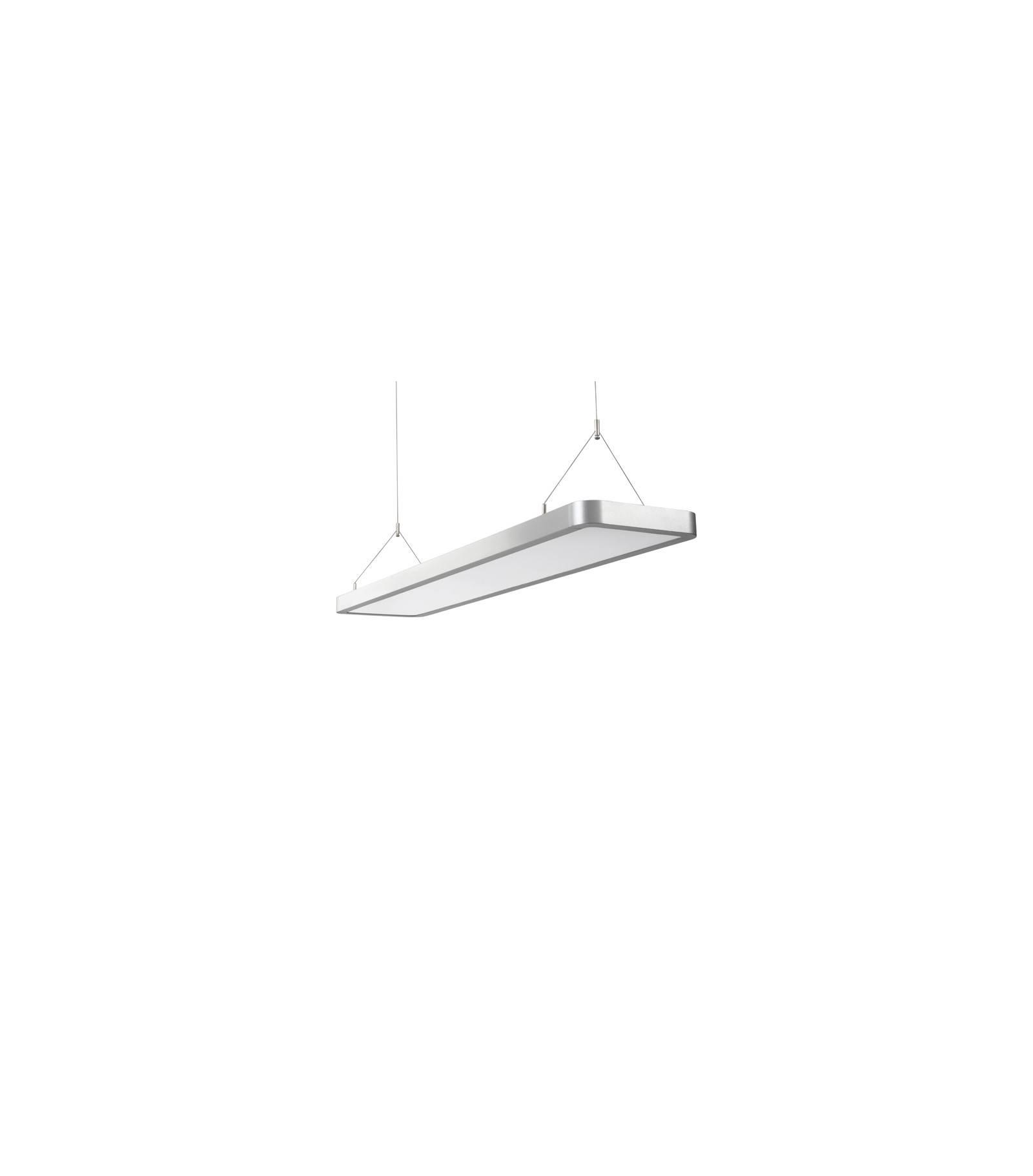 luminaire plafonnier gris vecom 65w led integr s ip20 blanc neutre eclairage professionnel. Black Bedroom Furniture Sets. Home Design Ideas