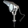 Spot projecteur à Piquer Alu Poli OPTIMUM GU10 MR16 ou MR20 IP67 Orientable éxterieur EASY CONNECT ampoule fournie