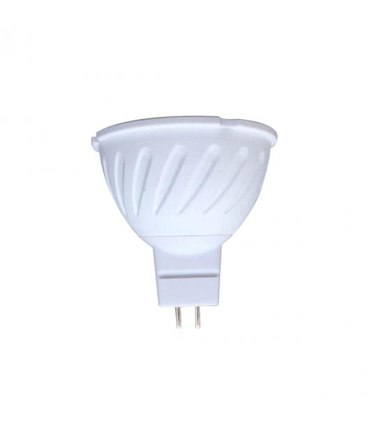 Ampoule LED GU5.3 (MR16) Blanc Chaud 2800-3200K 7W CREE COB Diffusion 38° en plastique et aluminium - CYBER WEEK - siageo-led.com