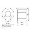 Spot encastrable Rond (Spécial Béton et montage en série avec 2 presse étoupe) BERG GU10 IP67 extérieur KANLUX - DOUBLE PRESSES ETOUPE - siageo-led.com