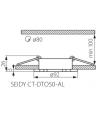 Spot Encastrable Plafonnier SEIDY Aluminium brossé Rond GU5.3/GU10 IP20 Orientable 30° KANLUX - ORIENTABLE - siageo-led.com