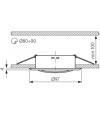 Spot Encastrable ARGUS Chrome Mat Rond GU5.3/GU10 IP20 Orientable 15° KANLUX - 331 - ORIENTABLE - siageo-led.com