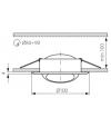 Spot Encastrable ARGUS Blanc Rond GU5.3/GU10 IP20 Orientable 45° KANLUX - 311 - ORIENTABLE - siageo-led.com