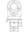 Spot rond Inox GORDO 0.7W LED SMD intégrées IP66 Blanc Froid extérieur Kanlux - SPOT ENCASTRABLE JARDIN - siageo-led.com