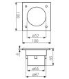 Spot carré Inox GORDO 0.7W LED SMD intégrées IP66 Blanc Froid extérieur KANLUX - SPOT ENCASTRABLE JARDIN - siageo-led.com