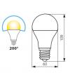 Ampoule LED E27 SMD RAPID PRO 9.5W 800Lm (équiv 60W) Blanc Chaud KANLUX - E27 - siageo-led.com