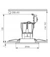 Spot encastrable DELE Chrome Mat Rond GU10 IP20 Orientable 20° KANLUX - 923 - CYBER WEEK - siageo-led.com
