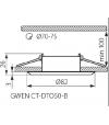 Spot Encastrable GWEN Noir Rond GU5.3/GU10 IP20 Orientable 30° KANLUX - 18531 - ORIENTABLE - siageo-led.com