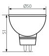 Ampoule LED GU5.3 MR16 SMD TOMI 5W 390Lm (équiv 35W) Blanc Froid 120° 12V KANLUX - GU5.3 - siageo-led.com