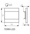 Applique Encastrable Escalier TERRA Argent Carré LED SMD IP20 1,3W Blanc Froid Kanlux - 23807 - APPLIQUE ENCASTRABLE ESCALIER - siageo-led.com