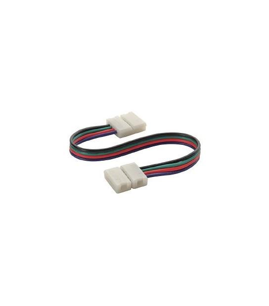 Rallonge double connecteur bande LED et Clip Connecteur Raccord Pré-câblé RGB 10mm HIPOW - CYBER WEEK - siageo-led.com