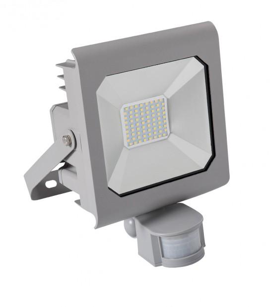 Projecteur LED ANTRA détecteur de mouvement 50W Blanc neutre 4000K Modèle Gris 3700Lumen Kanlux - 25582 - PROJECTEUR MURAL - siageo-led.com