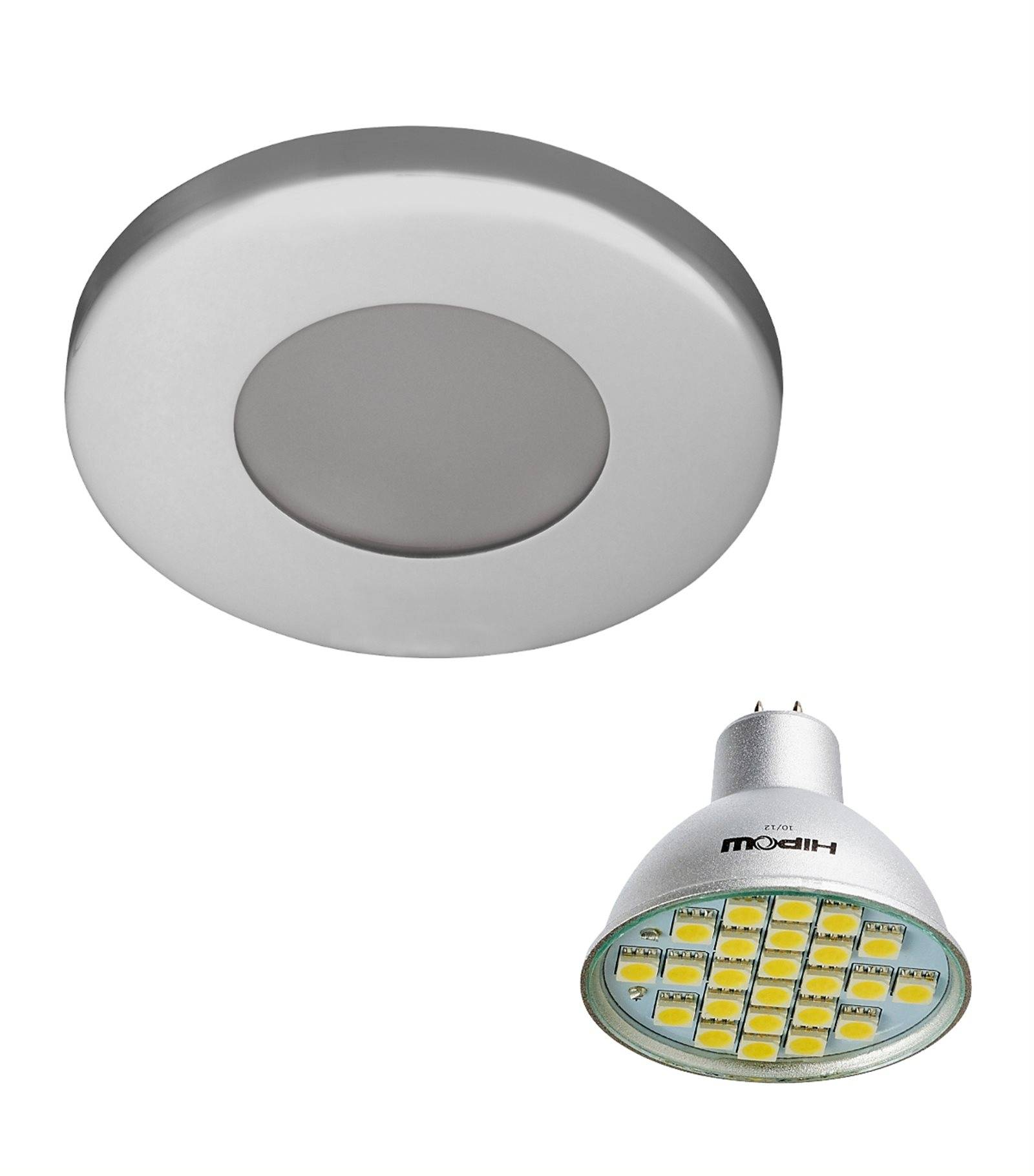 Pack Spot Encastrable Salle De Bain Chrome Rond Gu5 3 Mr16 Ip44 4w