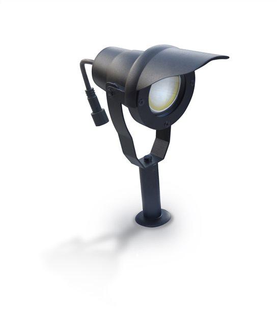 Projecteur Alu noir avec ampoule LED 6,5W fournie Easy Connect IP67 ref. 65250 - EC-65250 - PROJECTEUR JARDIN - siageo-led.com
