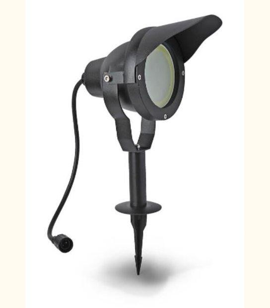 Projecteur Alu noir avec ampoule GU10 / MR30 LED 10W fournie Easy Connect IP67 ref. 65350 - EC-65350 - PROJECTEUR JARDIN - siageo-led.com