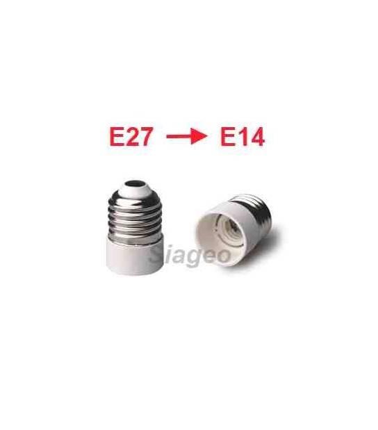 Douille adaptateur E27 vers E14 pour lampes et ampoules - DOUILLE & ADAPTATEUR - siageo-led.com
