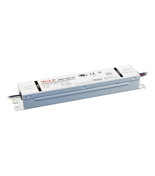 Transformateur spécial Led 24V de 80W DIMMABLE Etanche IP54 DMV-80D GLP - GLP-DMV-80D - CYBER WEEK - siageo-led.com