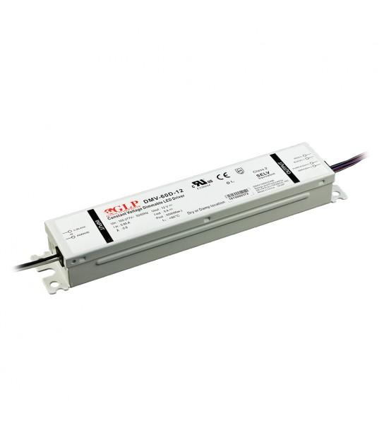 Transformateur spécial Led 12V de 60W DIMMABLE Etanche IP54 DMV-60D GLP - GLP-DMV-60D - TRANSFORMATEUR SPECIAL LED - siageo-led.com