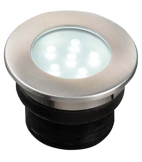 Spot encastrable BREVUS 1W PLATINE LED IP68 Blanc Très Froid éxterieur Garden lights ampoule fournie - GL2520601 - SPOT LED EXTERIEUR - siageo-led.com