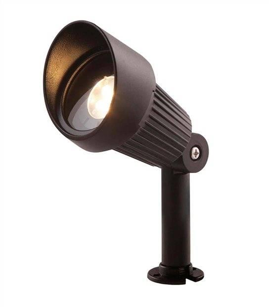Spot projecteur à piquer ou visser FOCUS 3W GU5.3 MR16 IP44 Blanc Chaud Orientable éxterieur Garden lights ampoule fournie - PROJECTEUR JARDIN - siageo-led.com