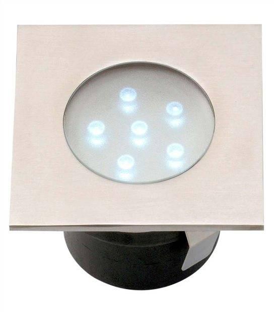 Spot encastrable BREVA 1W PLATINE LED IP68 Blanc Très Froid éxterieur Garden lights ampoule fournie - GL4016601 - SPOT ENCASTRABLE JARDIN - siageo-led.com