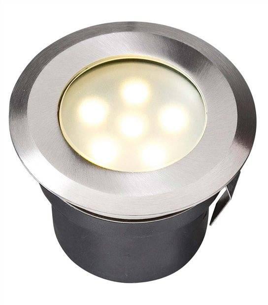 Spot encastrable SIRIUS 1W PLATINE LED IP68 Blanc Chaud éxterieur Garden lights ampoule fournie - GL4039601 - SPOT ENCASTRABLE JARDIN - siageo-led.com