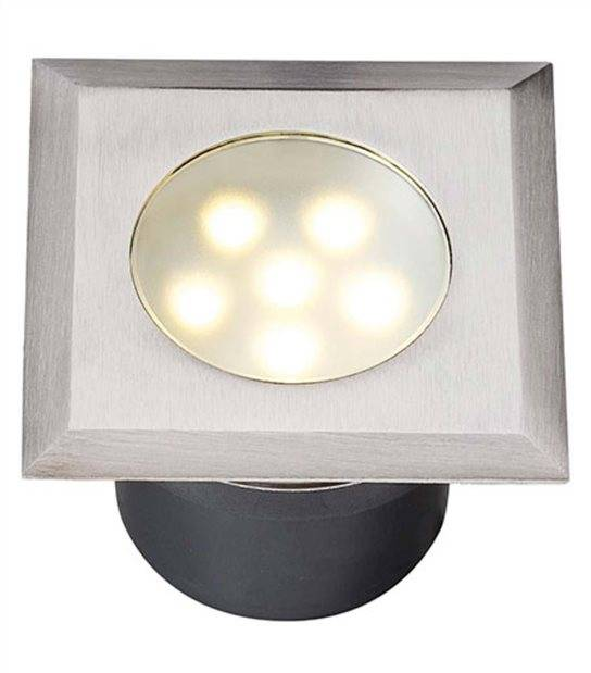 Spot encastrable LEDA 1W PLATINE LED IP68 Blanc Chaud éxterieur Garden lights ampoule fournie - GL4040601 - CYBER WEEK - siageo-led.com