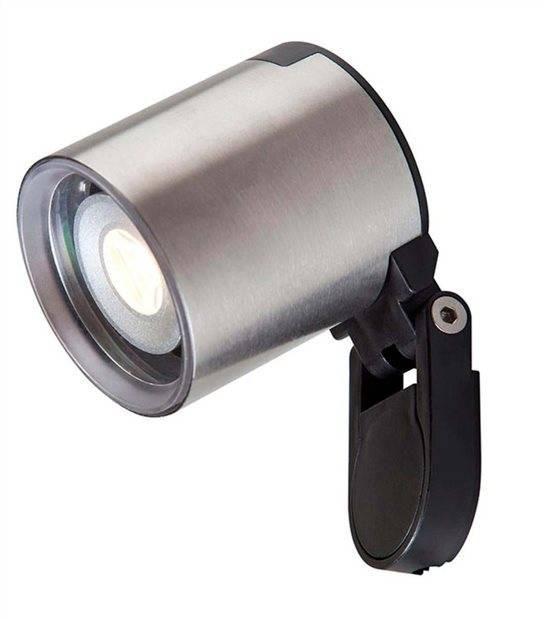 Spot projecteur à piquer ou visser GALILEO 2W GU5.3 MR11 IP44 Blanc Chaud Orientable éxterieur Garden lights ampoule fourni - PROJECTEUR JARDIN - siageo-led.com