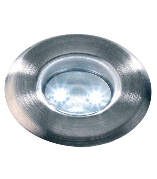 Spot encastrable ASTRUM BLANC 0.5W PLATINE LED IP68 Blanc Froid extérieur Garden lights ampoule fournie - 3029601 - SPOT ENCASTRABLE JARDIN - siageo-led.com