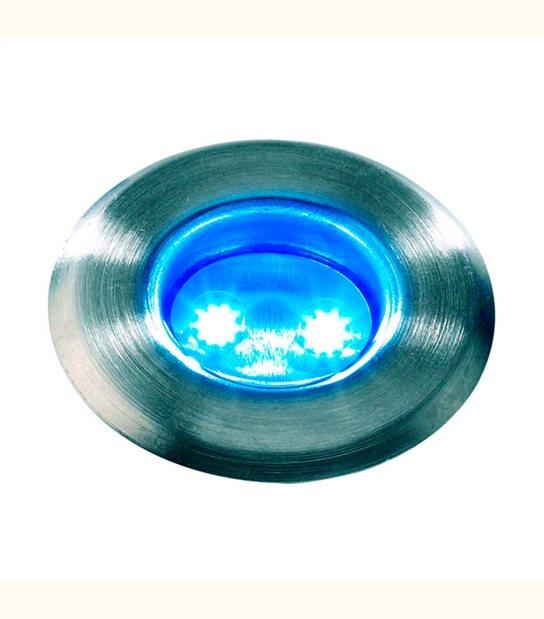 Spot encastrable ASTRUM BLEU 0,5W PLATINE LED IP68 Blanc Très Froid éxterieur Garden lights ampoule fournie - GL3037601 - SPOT ENCASTRABLE JARDIN - siageo-led.com