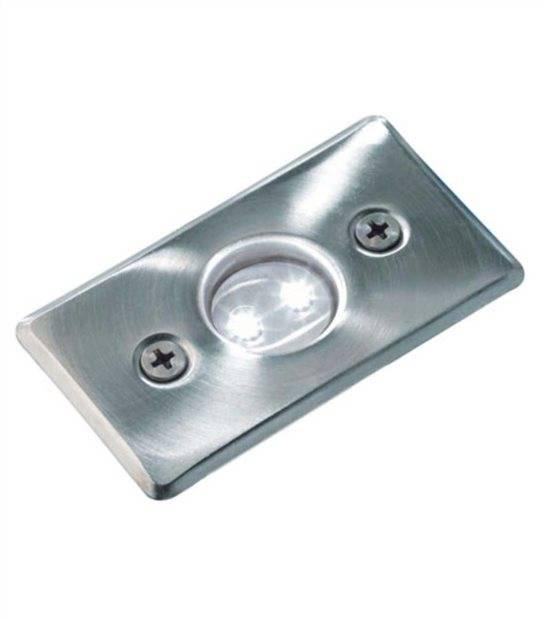 Spot encastrable AXIS BLANC 0,5W PLATINE LED IP68 Blanc Froid éxterieur Garden lights ampoule fournie - 3038601 - SPOT ENCASTRABLE JARDIN - siageo-led.com