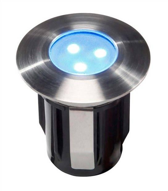 Spot encastrable ALPHA BLEU 0,5W PLATINE LED IP68 Blanc Très Froid éxterieur Garden lights ampoule fournie - GL4059601 - SPOT ENCASTRABLE JARDIN - siageo-led.com