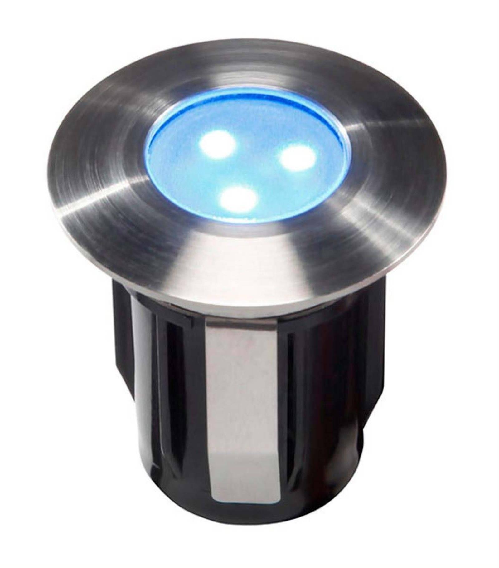 spot encastrable alpha bleu 0 5w platine led ip68 blanc tr s froid xterieur garden lights. Black Bedroom Furniture Sets. Home Design Ideas