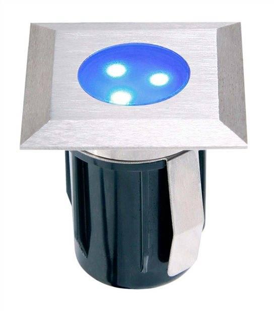 Spot encastrable ATRIA BLEU 0,5W PLATINE LED IP68 Blanc Très Froid éxterieur Garden lights ampoule fournie - GL4092601 - SPOT ENCASTRABLE JARDIN - siageo-led.com