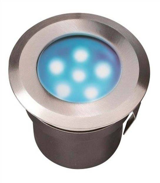 Spot encastrable SIRIUS BLUE 1W PLATINE LED IP68 Blanc Très Froid éxterieur Garden lights ampoule fournie - GL4113601 - SPOT ENCASTRABLE JARDIN - siageo-led.com