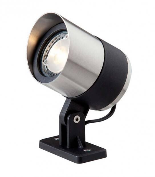 Spot projecteur à piquer ou visser ATLAS 3W GU5.3 MR16 IP44 Blanc Chaud Orientable éxterieur Garden lights ampoule fournie - PROJECTEUR JARDIN - siageo-led.com