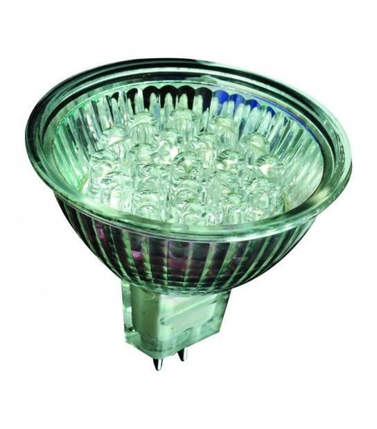Ampoule LED GU5.3 MR16 2W 84Lm Blanc Chaud 120 degré 12V Garden lights - GL6061101 - CYBER WEEK - siageo-led.com