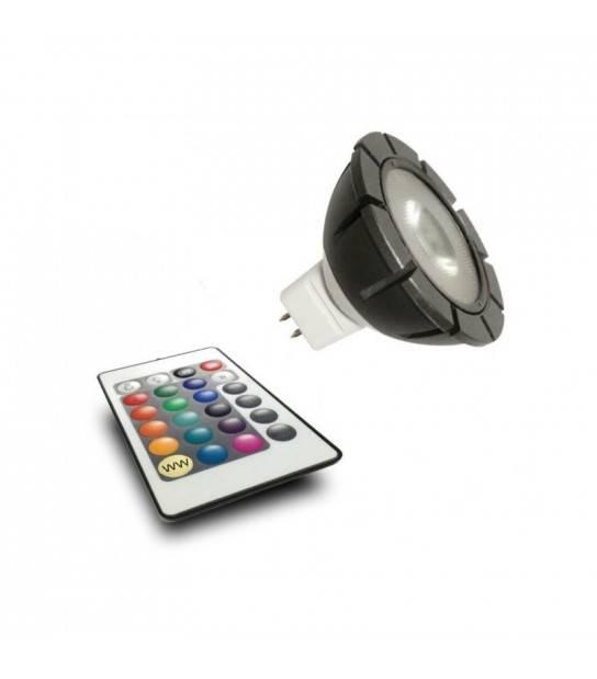 Ampoule LED GU5.3 MR16 3W 110Lm RGB 120° 12V Garden lights - GL6190011 - AMPOULE GU5.3 - siageo-led.com