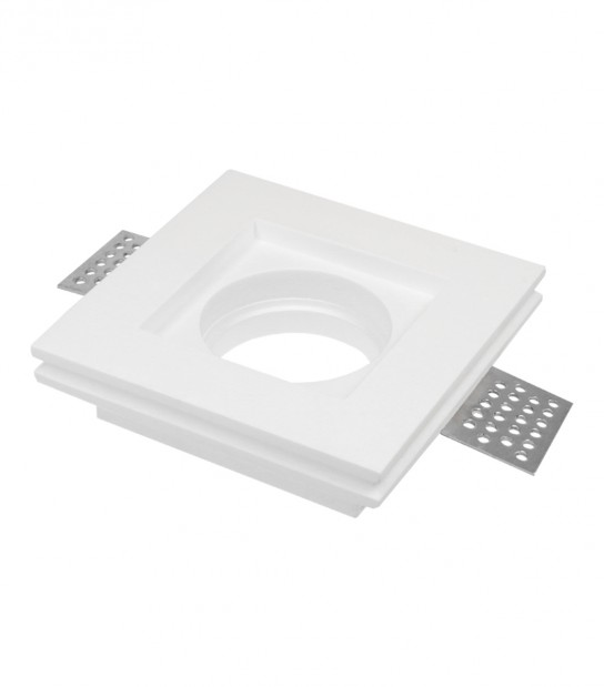 Spot encastrable en plâtre PAVO Blanc Carré GU10 LED Line - ENCASTRABLE - siageo-led.com